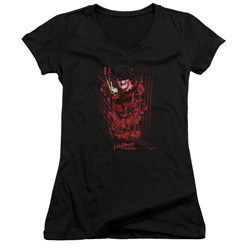 Nightmare On Elm Street - Juniors One Two Freddys Coming For You V-Neck T-Shirt