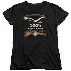 2001 A Space Odyssey - Womens Prologue Epilogue T-Shirt