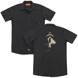 2001 A Space Odyssey - Mens Monolith (Back Print) Work Shirt