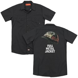 Full Metal Jacket - Mens Poster (Back Print) Work Shirt