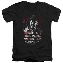 Full Metal Jacket - Mens Malfunction V-Neck T-Shirt