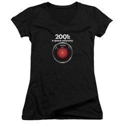 2001 A Space Odyssey - Juniors Hal V-Neck T-Shirt