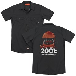 2001 A Space Odyssey - Mens Space Travel (Back Print) Work Shirt