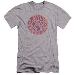 Willy Wonka And The Chocolate Factory - Mens Circle Logo Premium Slim Fit T-Shirt