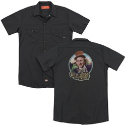 Willy Wonka And The Chocolate Factory - Mens Its Scrumdiddlyumptious (Back Print) Work Shirt