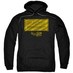 Willy Wonka And The Chocolate Factory - Mens Golden Ticket Pullover Hoodie