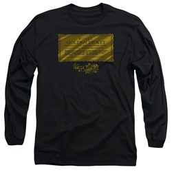 Willy Wonka And The Chocolate Factory - Mens Golden Ticket Long Sleeve T-Shirt