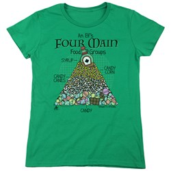 Elf - Womens Food Pyramid T-Shirt