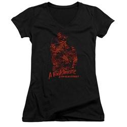Nightmare On Elm Street - Juniors Chest Of Souls V-Neck T-Shirt