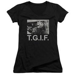 Friday The 13Th - Juniors Tgif V-Neck T-Shirt