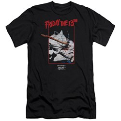 Friday The 13Th - Mens Axe Poster Premium Slim Fit T-Shirt