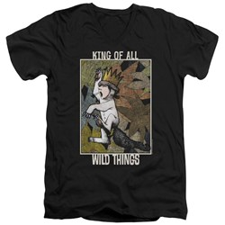 Where The Wild Things Are - Mens King Of All Wild Things V-Neck T-Shirt