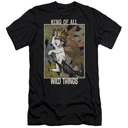 Where The Wild Things Are - Mens King Of All Wild Things Premium Slim Fit T-Shirt