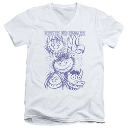 Where The Wild Things Are - Mens Wild Sketch V-Neck T-Shirt
