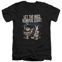 Where The Wild Things Are - Mens Wild Rumpus V-Neck T-Shirt