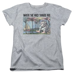 Where The Wild Things Are - Womens Cover Art T-Shirt