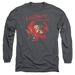 Nightmare On Elm Street - Mens Freddy Circle Long Sleeve T-Shirt