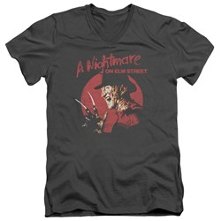Nightmare On Elm Street - Mens Freddy Circle V-Neck T-Shirt