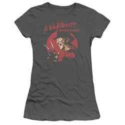 Nightmare On Elm Street - Juniors Freddy Circle T-Shirt