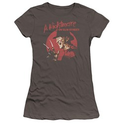 Nightmare On Elm Street - Juniors Freddy Circle Premium Bella T-Shirt