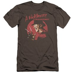 Nightmare On Elm Street - Mens Freddy Circle Premium Slim Fit T-Shirt