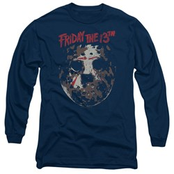 Friday The 13Th - Mens Rough Mask Long Sleeve T-Shirt