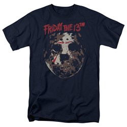 Friday The 13Th - Mens Rough Mask T-Shirt