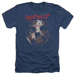 Friday The 13Th - Mens Rough Mask Heather T-Shirt