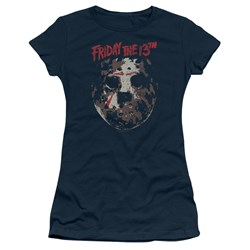 Friday The 13Th - Juniors Rough Mask T-Shirt