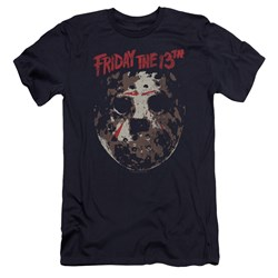 Friday The 13Th - Mens Rough Mask Premium Slim Fit T-Shirt