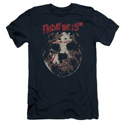 Friday The 13Th - Mens Rough Mask Slim Fit T-Shirt