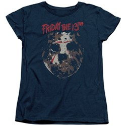 Friday The 13Th - Womens Rough Mask T-Shirt