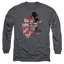 Nightmare On Elm Street - Mens Playing With Power Long Sleeve T-Shirt