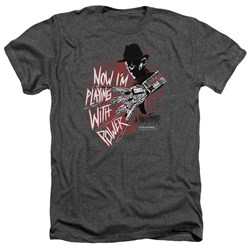 Nightmare On Elm Street - Mens Playing With Power Heather T-Shirt