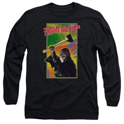 Friday The 13Th - Mens Retro Game Long Sleeve T-Shirt