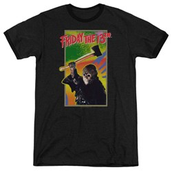 Friday The 13Th - Mens Retro Game Ringer T-Shirt