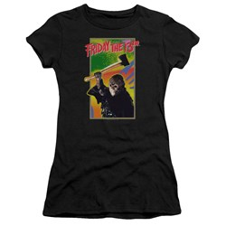 Friday The 13Th - Juniors Retro Game Premium Bella T-Shirt