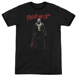 Friday The 13Th - Mens Chchch Ahahah Ringer T-Shirt