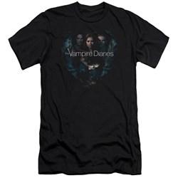 Vampire Diaries - Mens Hearts Desire Premium Slim Fit T-Shirt