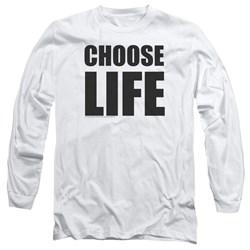 Wham - Mens Choose Life Long Sleeve T-Shirt