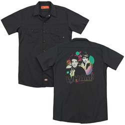 Wham - Mens The Edge Of Heaven (Back Print) Work Shirt