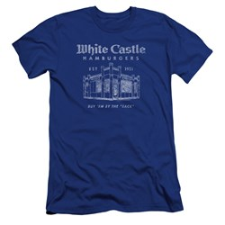 White Castle - Mens By The Sack Premium Slim Fit T-Shirt