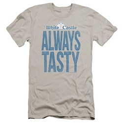 White Castle - Mens Always Tasty Premium Slim Fit T-Shirt