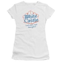 White Castle - Juniors Lets Eat Premium Bella T-Shirt