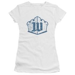 White Castle - Juniors Monogram Premium Bella T-Shirt