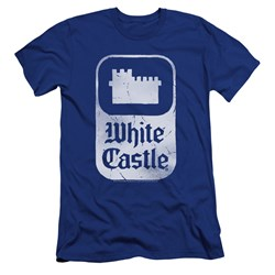 White Castle - Mens Classic Logo Premium Slim Fit T-Shirt