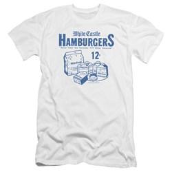 White Castle - Mens 12 Cents Premium Slim Fit T-Shirt