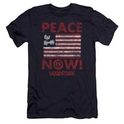 Woodstock - Mens Peace Now Premium Slim Fit T-Shirt