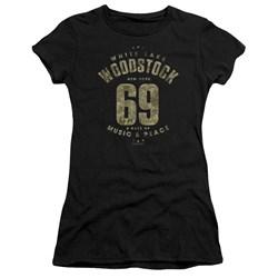 Woodstock - Juniors White Lake Premium Bella T-Shirt
