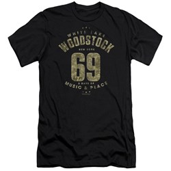 Woodstock - Mens White Lake Premium Slim Fit T-Shirt